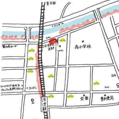 河津桜まつり 元祖桜たいやき 地図